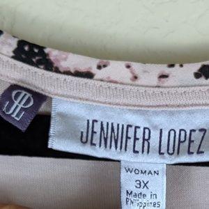 Jennifer Lopez Tops - Jennifer López Blush Snake Print Sleeveless Top 3X
